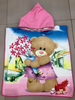 Microfiber Kid Hooded Beach Towel Baby Poncho Stocks or Customize