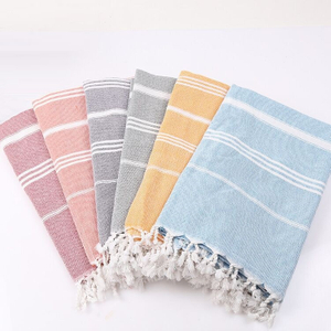 100% Cotton Turkish Towel Stocks and Customize Available 90*180cm